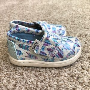 Baby TOMS Shoes Size 4